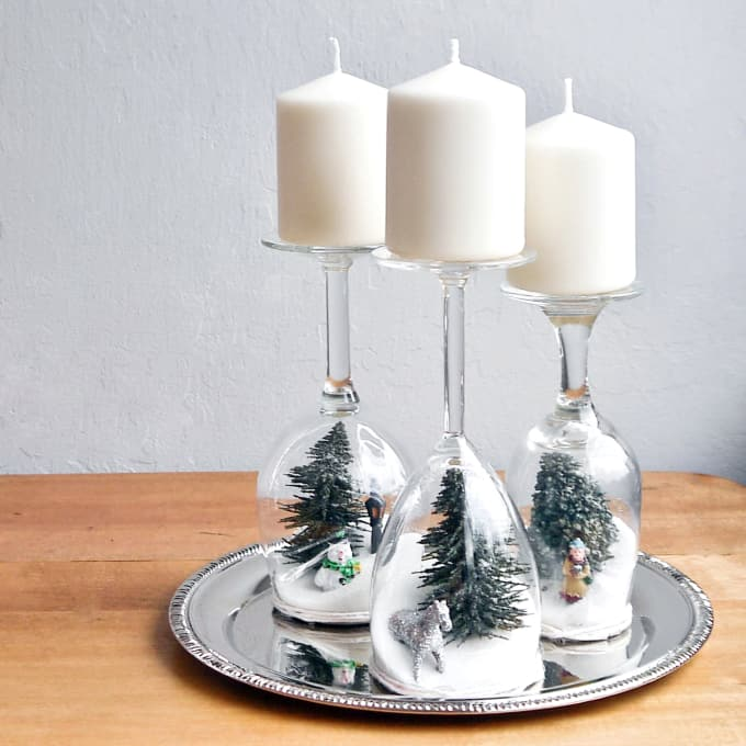 lastly but certainly not least among the most creative wine glass decorating ideas ever are these wine glass candle holders since saint patricks day is