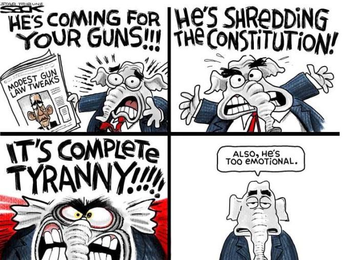 Impactful Political Cartoons About Gun Control   The Swamp
