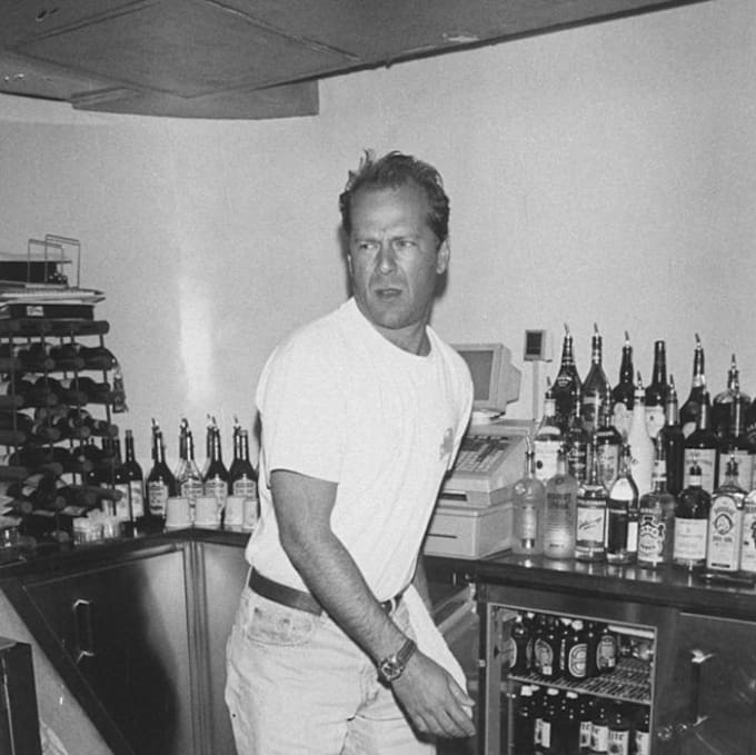 Image result for bruce willis bartender