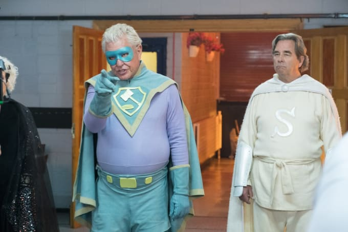 Movie Review: 'Supervized' Mines Laughs From Aging Superhero Gags