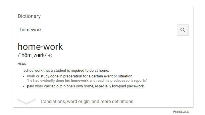 managing homework education