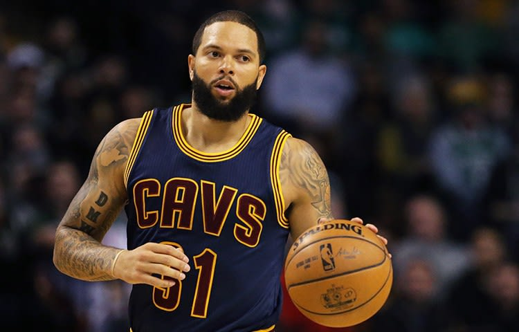 6d7754bbb74 Deron Williams debuted with the Cleveland Cavaliers last night against the  Celtics (image via NBA.com Maddie Meyer Getty Images)