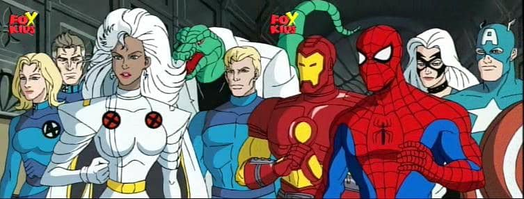 Image result for Fantastic Four Spider-Man animated