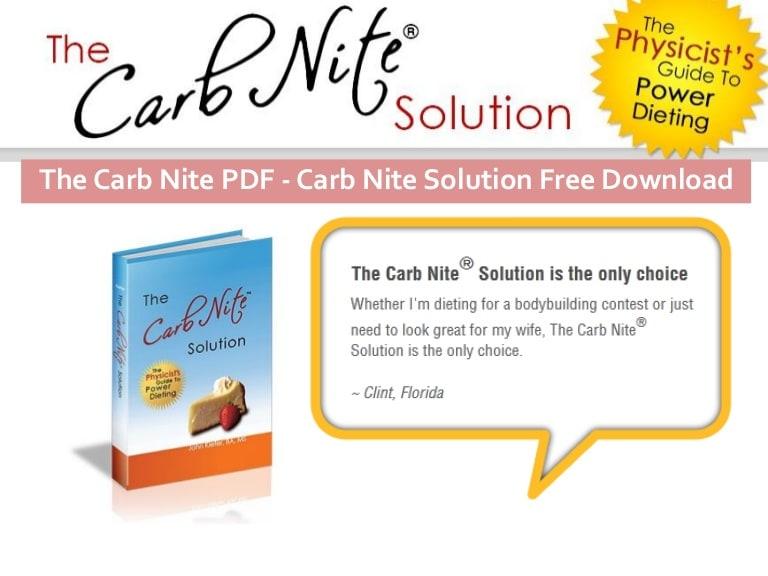 carb nite solution scam or legit longevity
