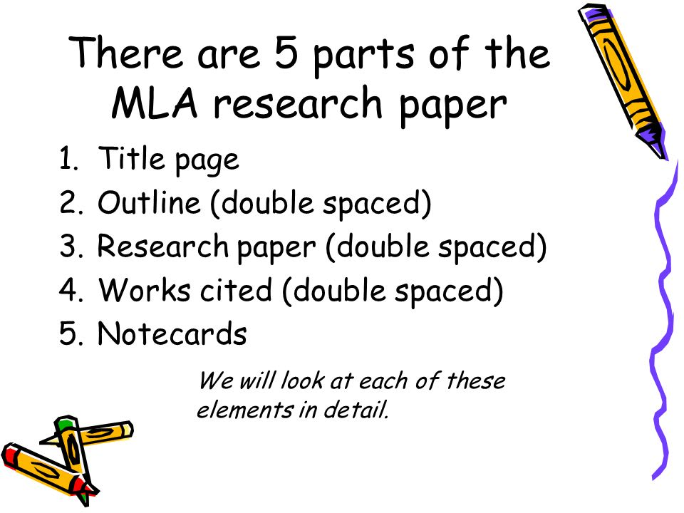 complete parts of term paper