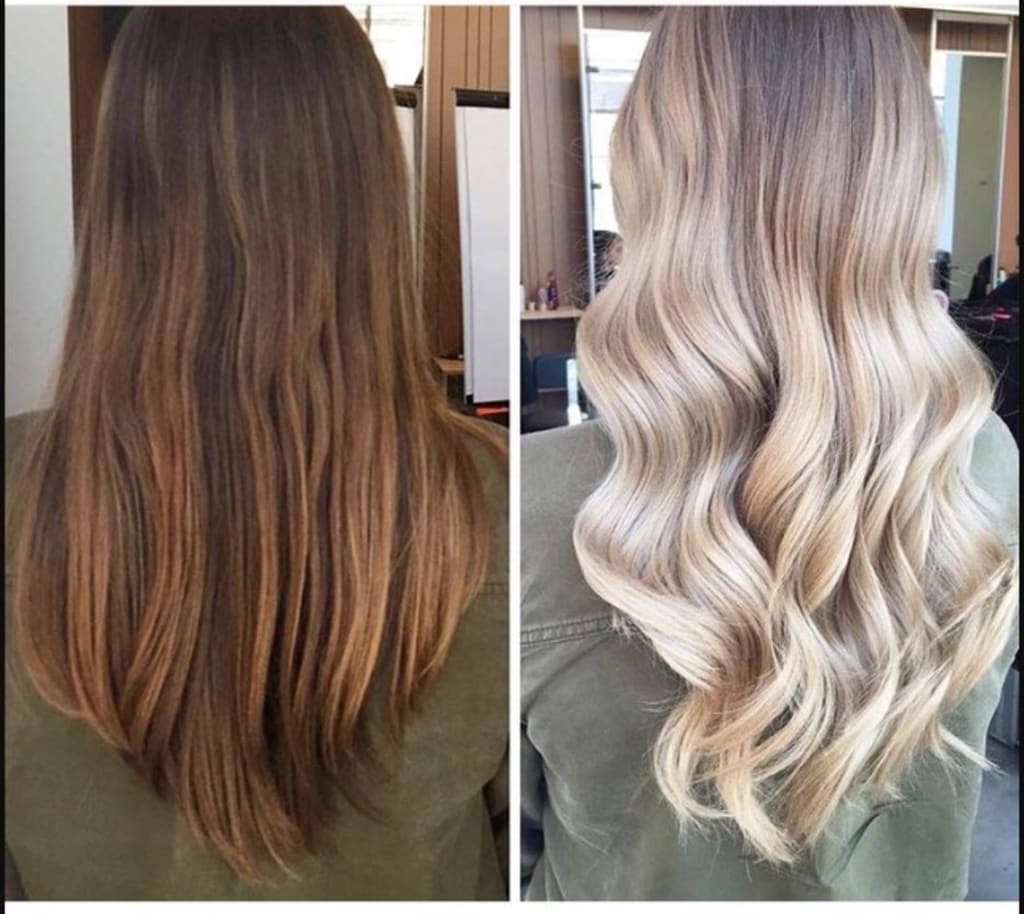 How To Go from Dark Brown to Blonde With Minimal Damage   Blush