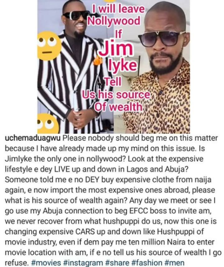 Why I Beat Uche Maduagwu and What Happened After - Jim Iyke