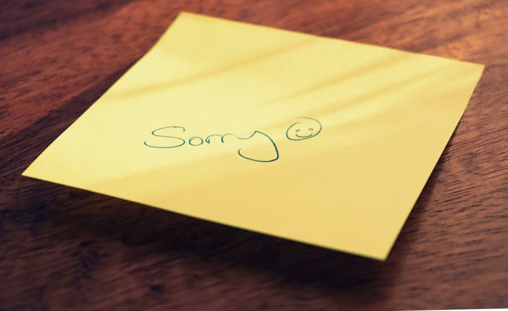 The Art of Saying Sorry