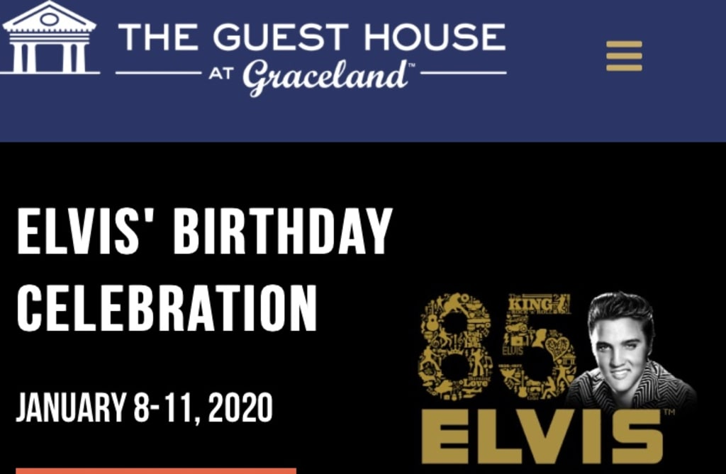 Multiple Celebrations For  Elvis Presley's 85th birth date anniversary on January 8th.