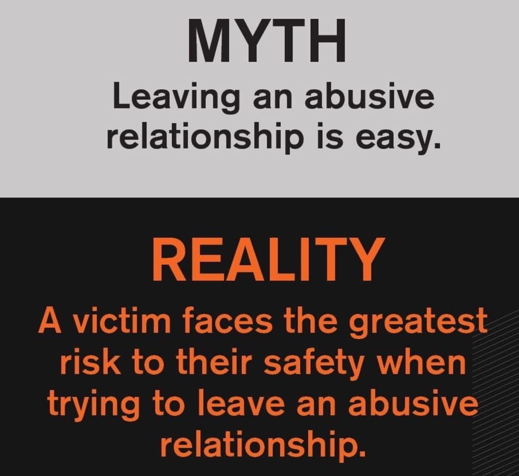 Leaving An Abusive Relationship Is Easy
