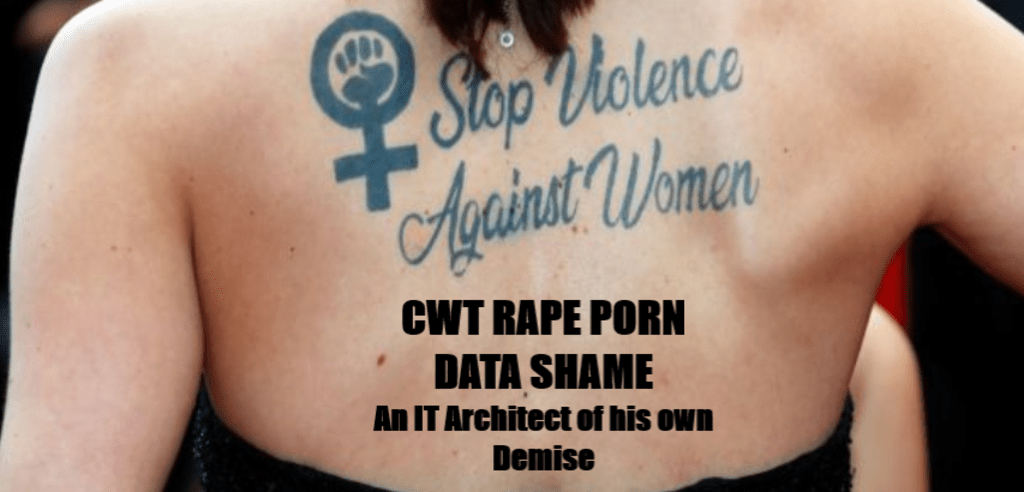 Johnny's Data Diving Part 3: CWT's Rape Porn Data Shame - An IT Architect of His Own Downfall #SVAW