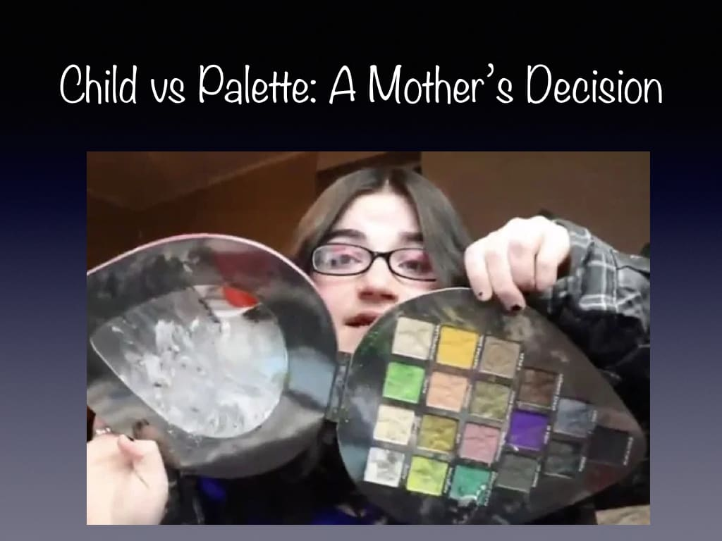 The Mother Who Hit Her Toddler For A Palette