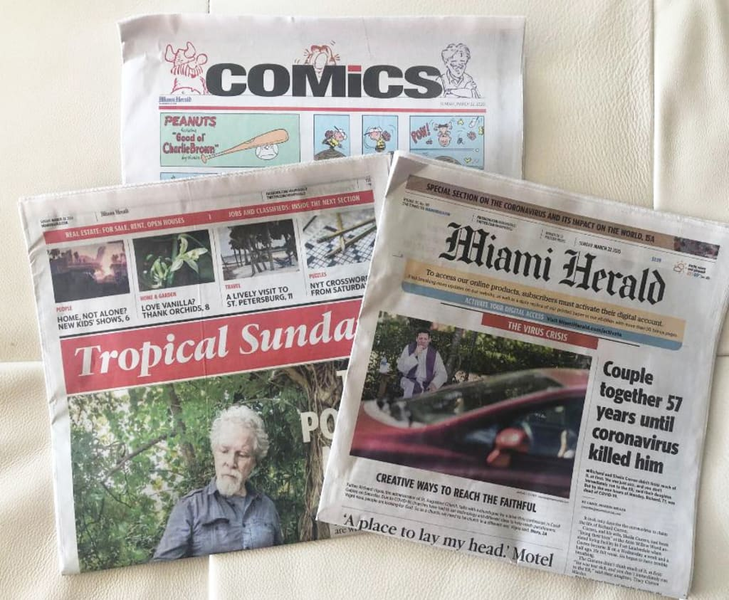Still reading the printed newspaper