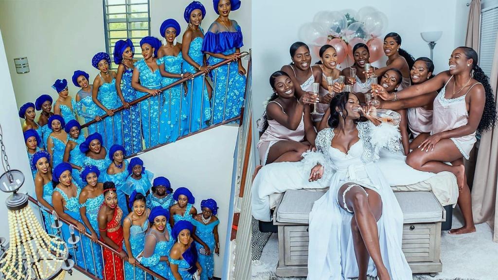 7 Most STUNNING Nigerian Bridesmaids (Photos).
