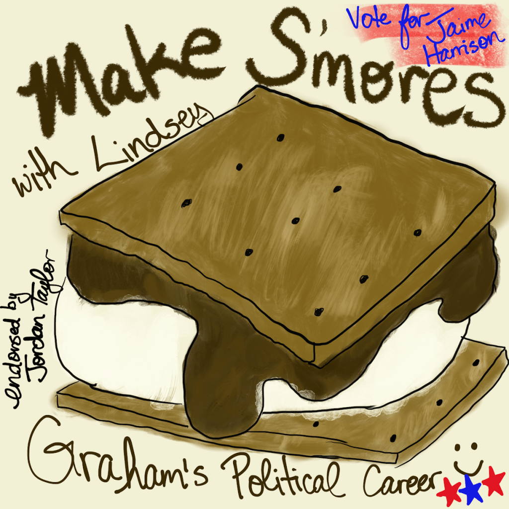 Making S'mores with Lindsey Graham's Political Career- Why I Donated to Jaime Harrison's U.S. Senate Campaign