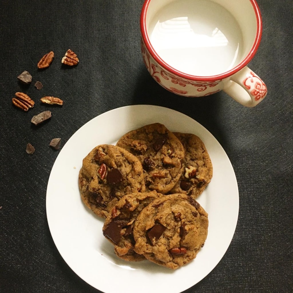 Vegan Browned Butter Chocolate Chunk Cookies