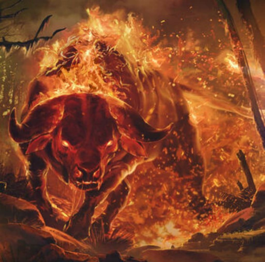 Creepy Creatures and Myths #3: The Aatxe: Fiery, Shapeshifting Bull of Basque Mythology