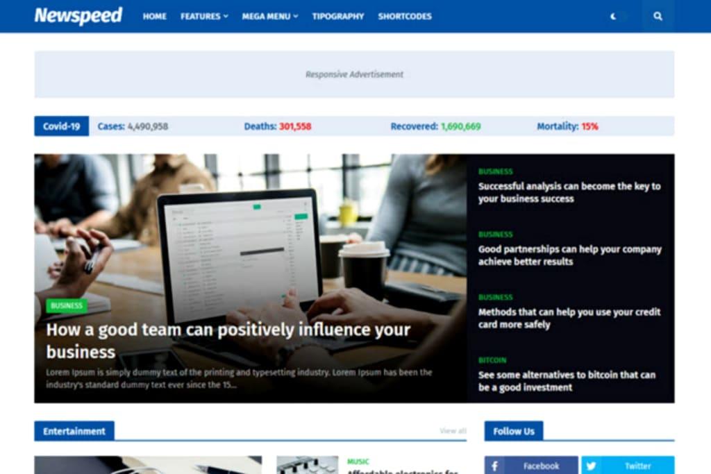 Newspeed Blogger Template Premium Version Free