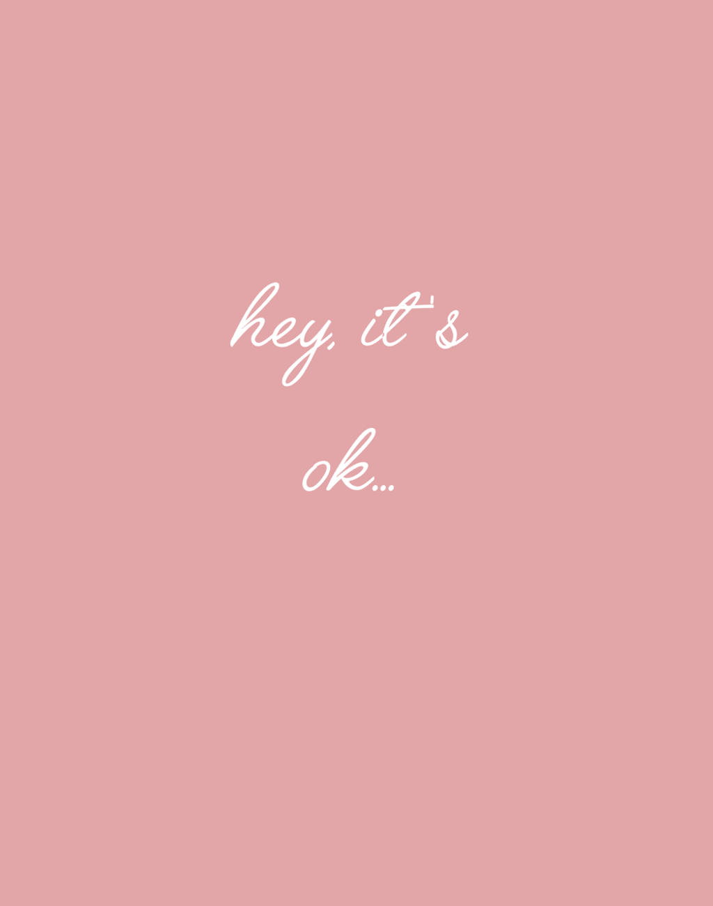 It's Okay to Not Know