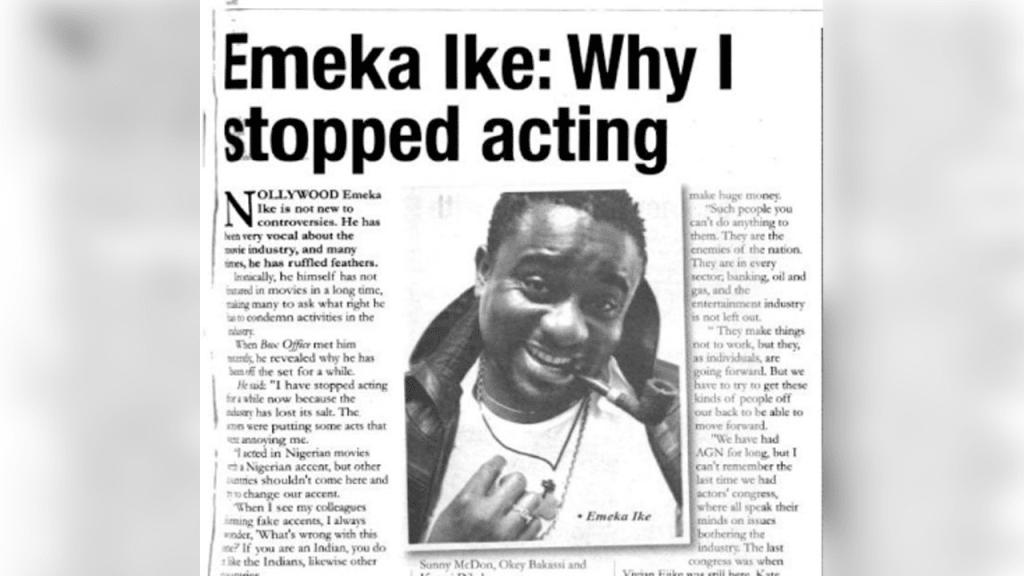 Shocking Truth about Why Emeka Ike Stopped Acting