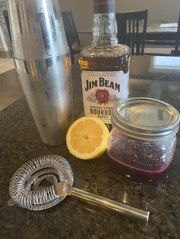 Blueberry Bourbon Sour