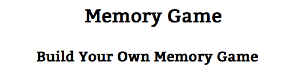 Why are memory games so important ?