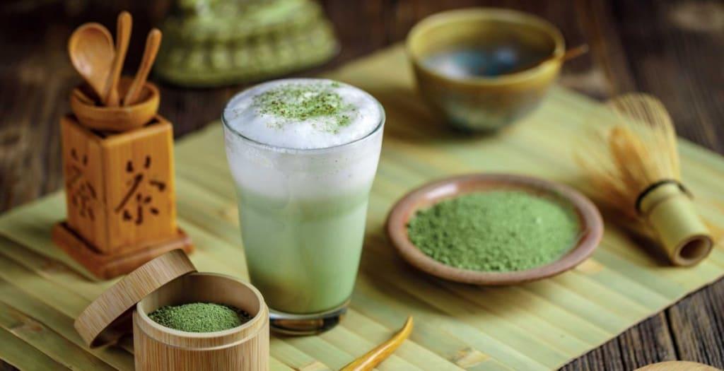 Matcha tea with health flavor