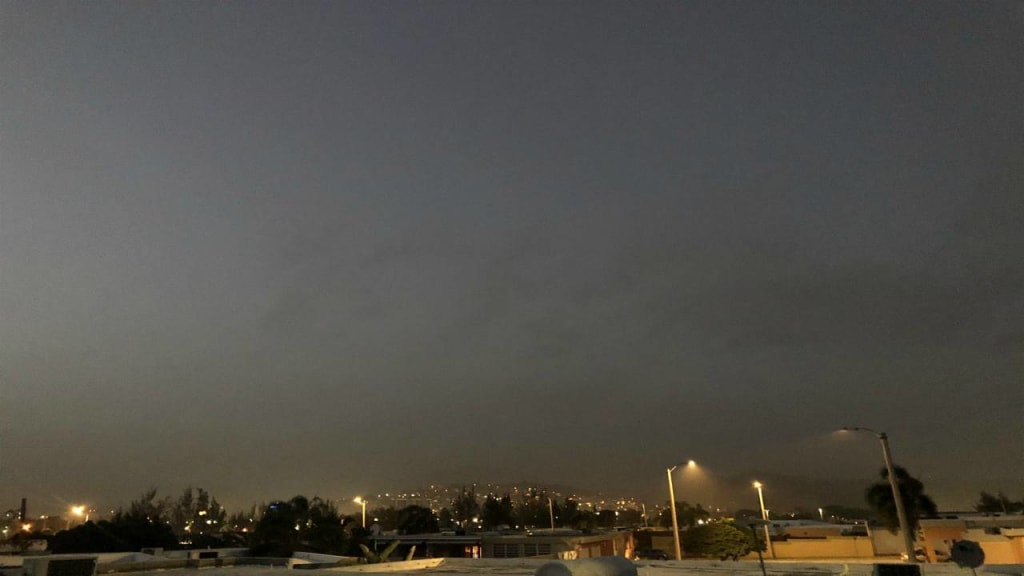 Puerto Rico has awakened completely in the dark due to a very rare Saharan sandstorm