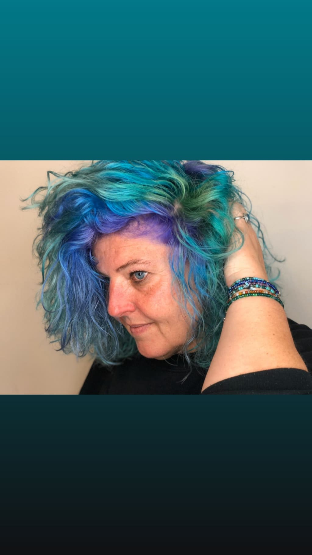 Blue hair, I don't care