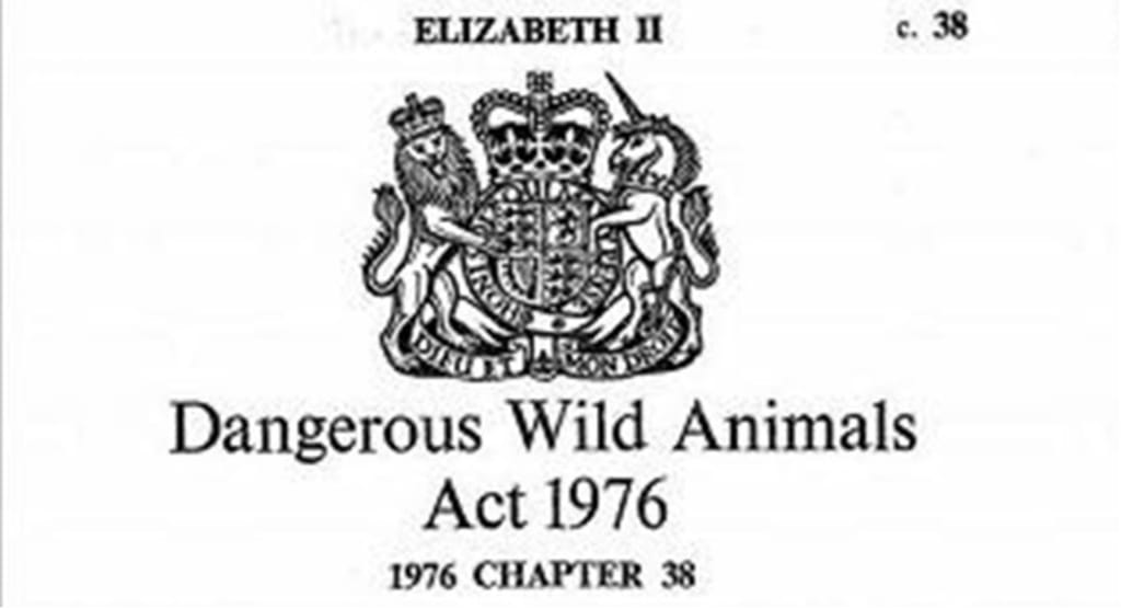 On the Origins of the 'Dangerous Wild Animals Act' of 1976