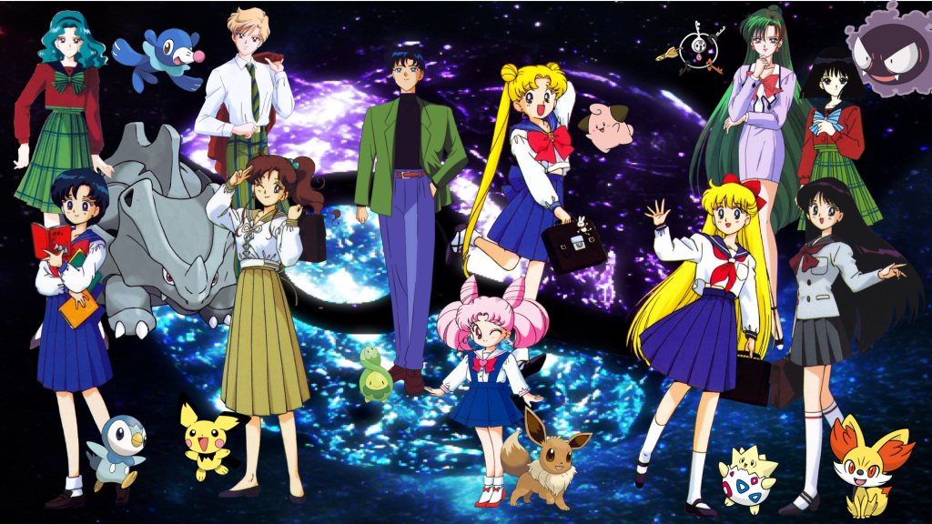 World Collide Again, the Sailor Senshi Reimagined as Pokémon Trainers!