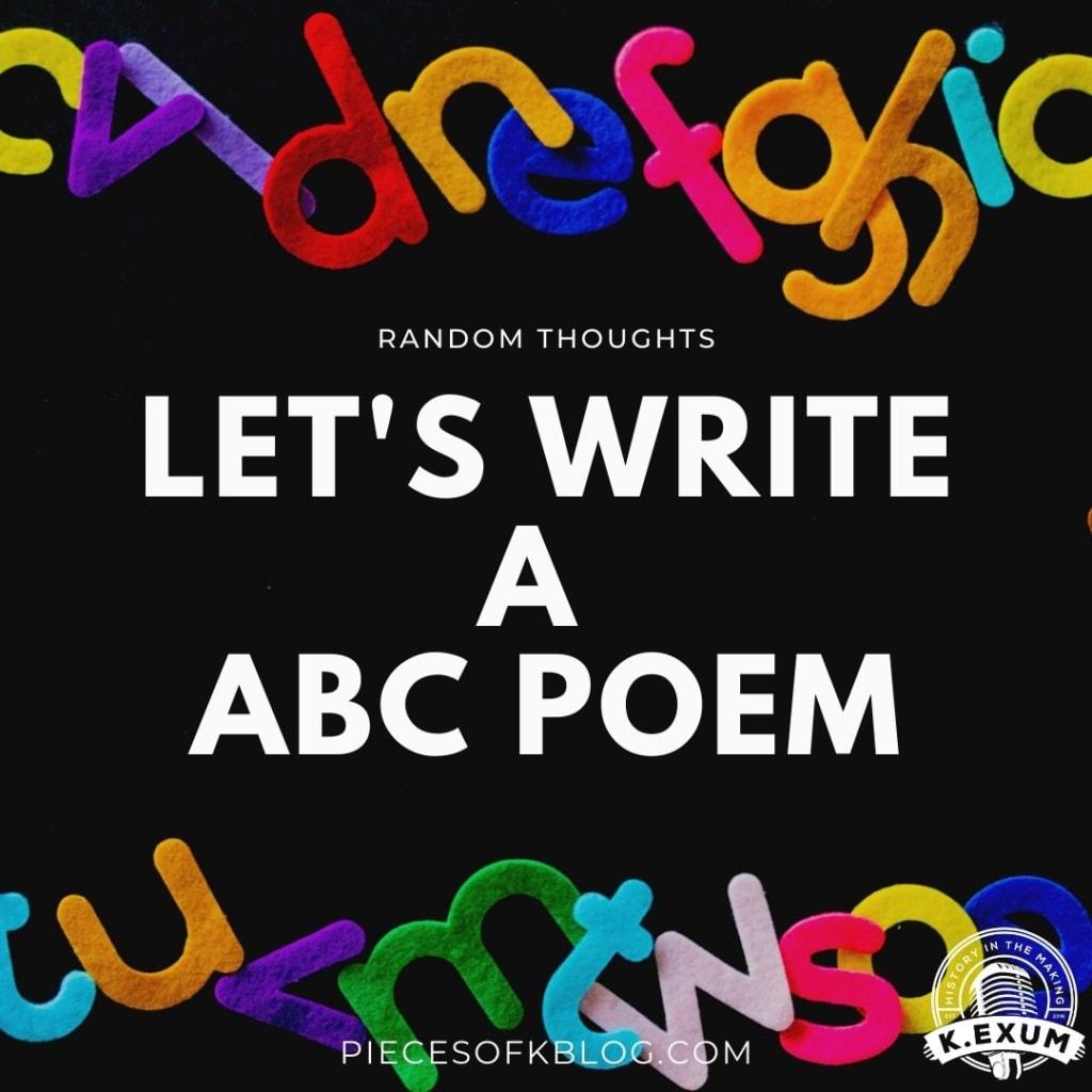Let's Write a ABC Poem
