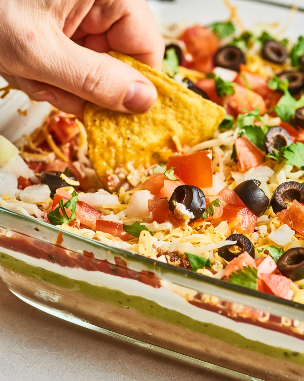 Best Seven Layer Mexican Dip Ever!