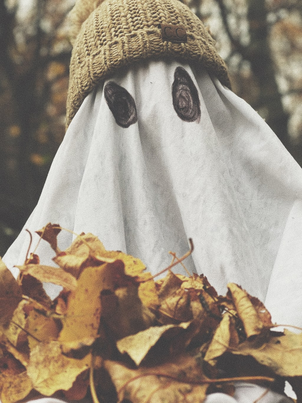 Ghost Photo Shoot: The Greatest Fall Trend Yet.