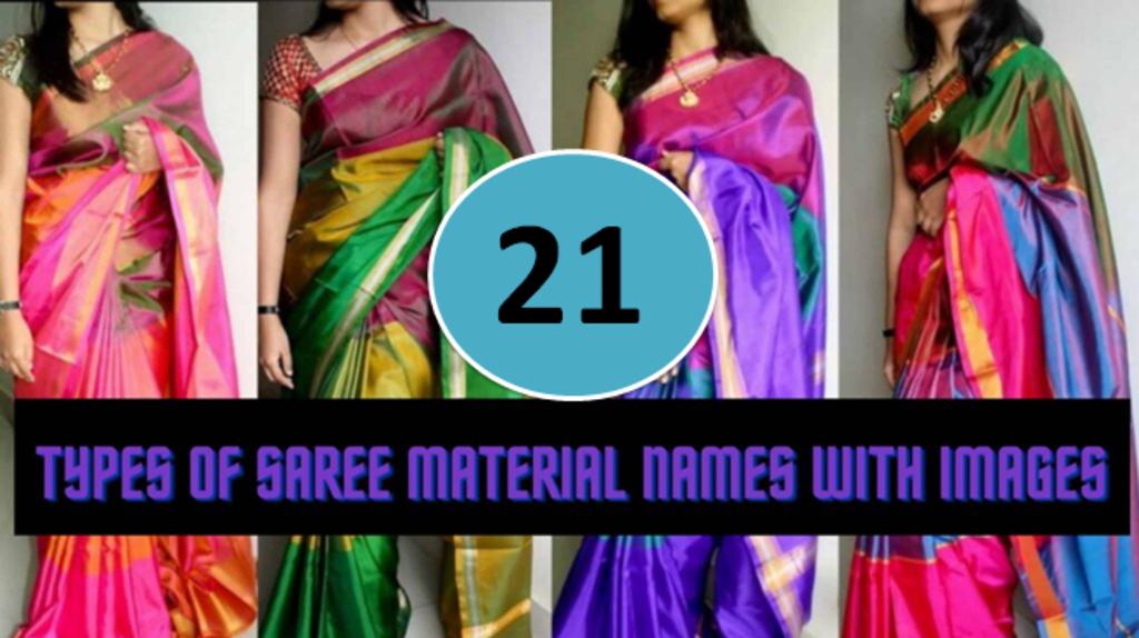 21 Type of Sarees in India