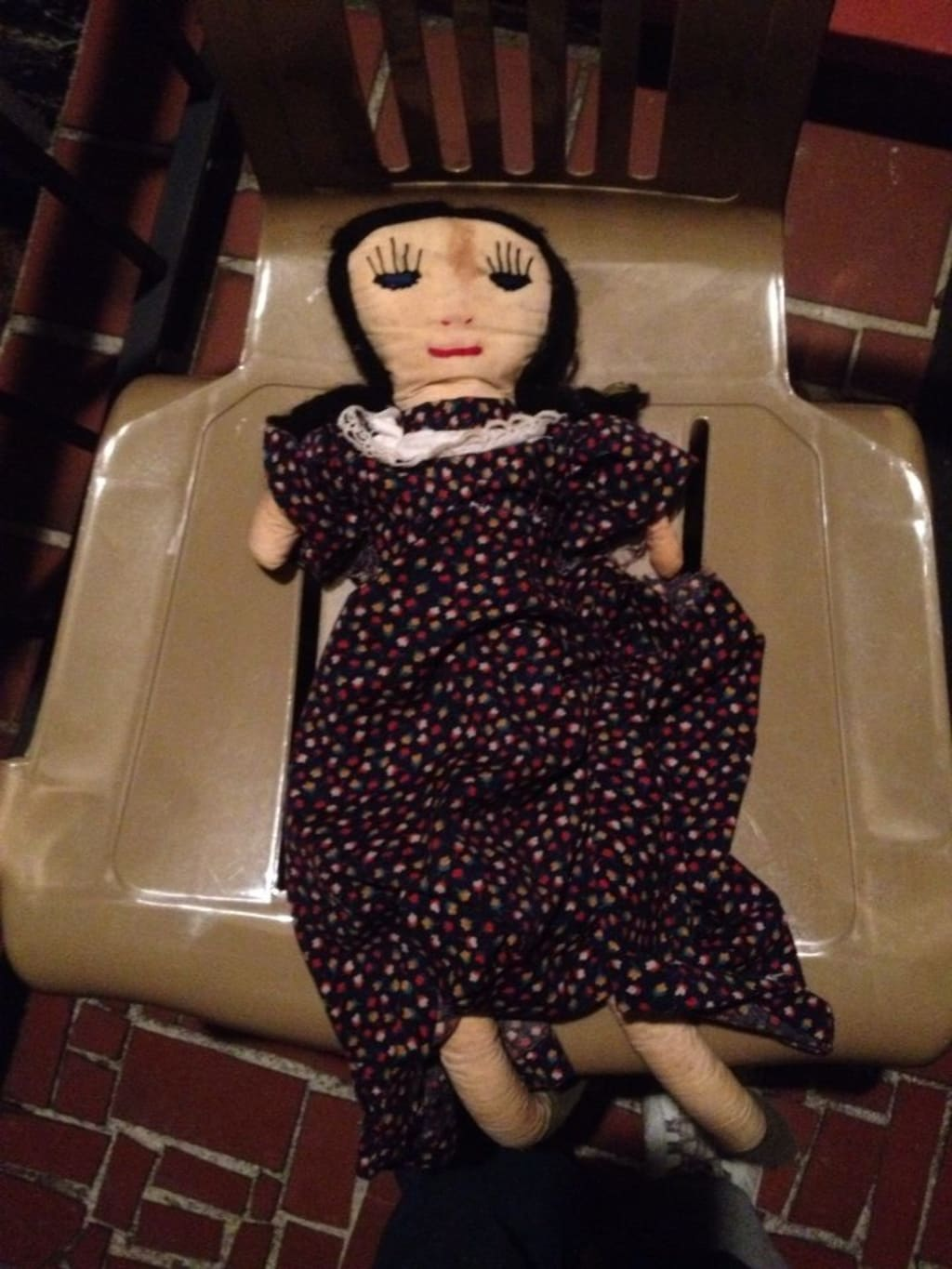 This doll may give Annabelle a run for her money