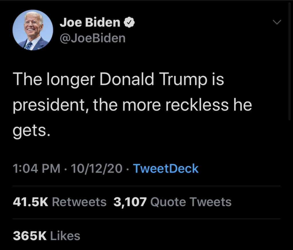 30 Joe Biden Tweets To Inspire You To Vote Like Your Life Depends On It