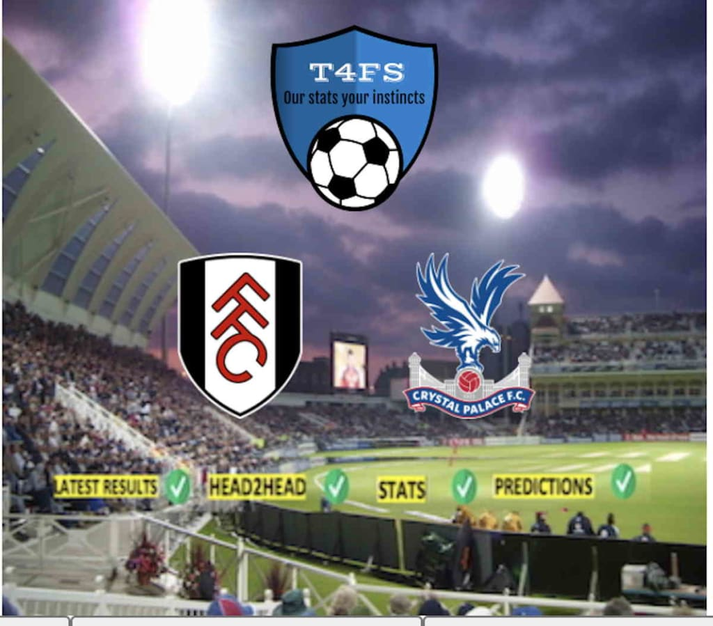 Fulham vs Crystal Palace prediction / h2h / Stats / Latest results