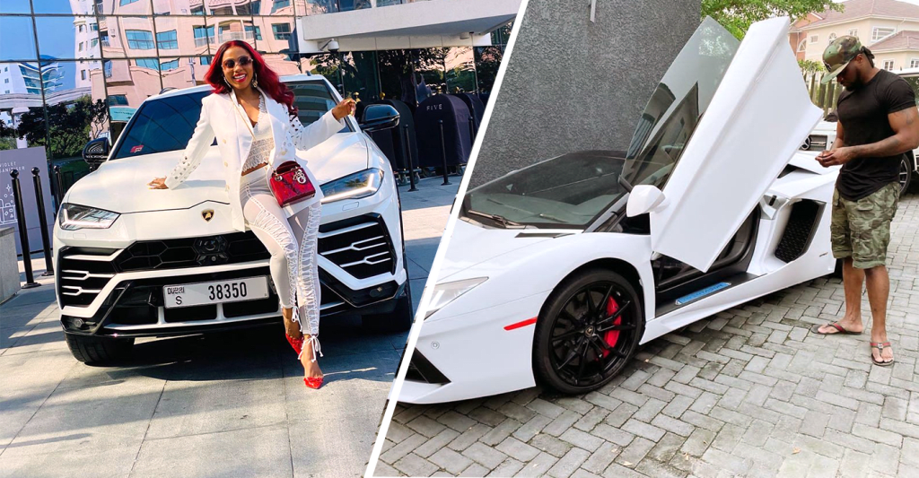 7 Nigerian Celebrities Show Off Expensive Lamborghini Cars (Photos).