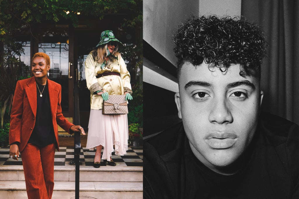 Teenage photographer Sterling Chandler Behind the Scenes for Gucci and Dazed film