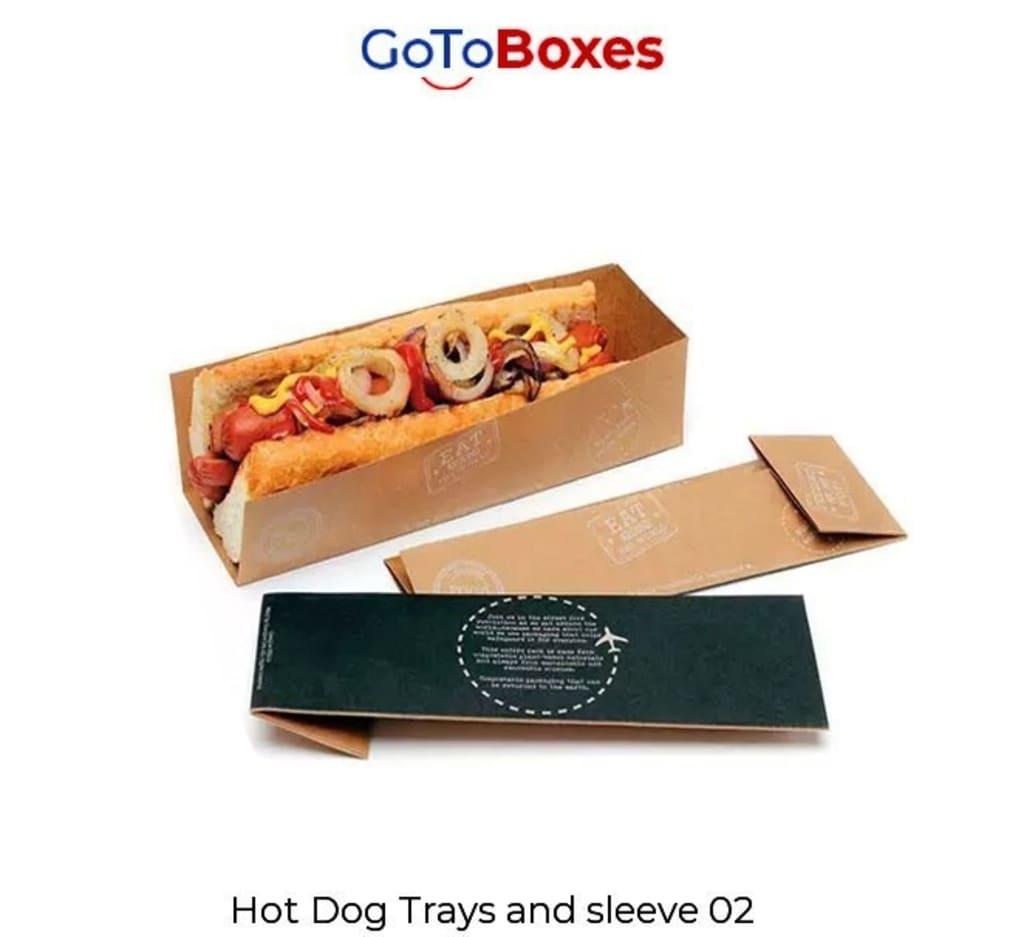 Get Custom Hot Dog Boxes Wholesale at GotoBoxes