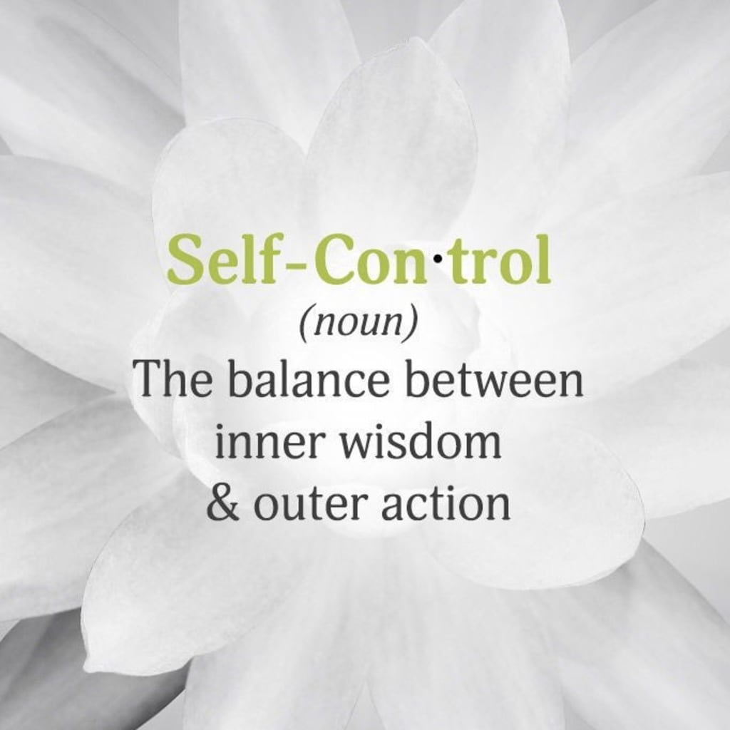 The Art Of Practicing Self-Control