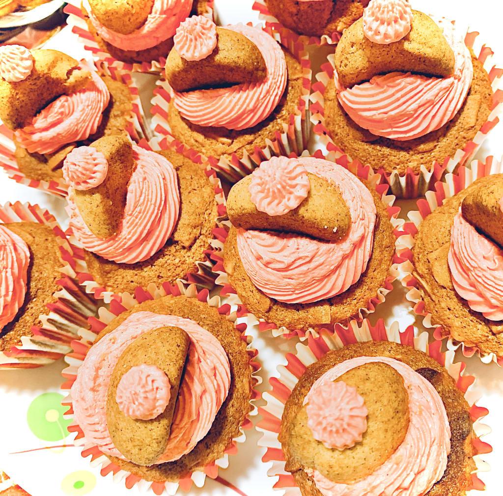 Spiced Nut Mocha Cupcakes