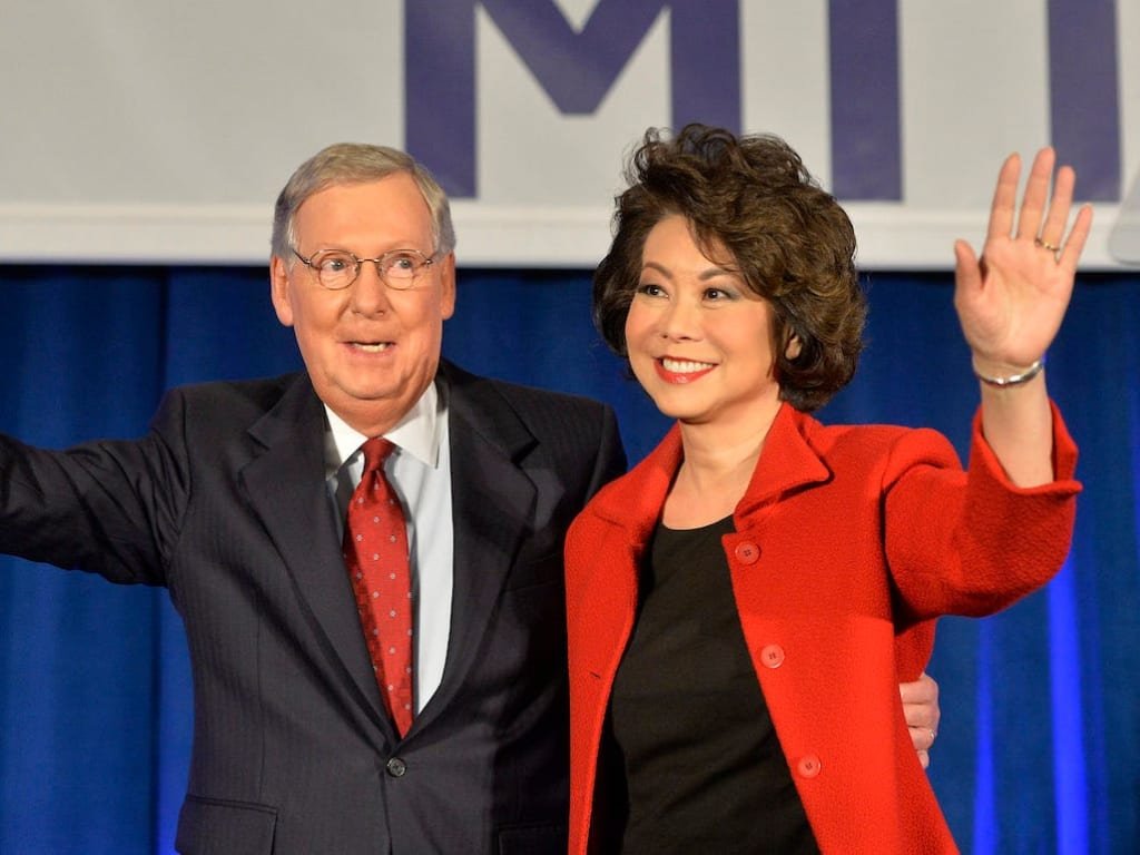 Mitch McConnel's wife Elaine Chao resigns amid the unrest