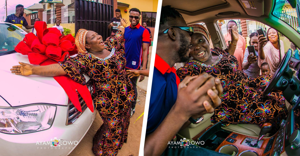 9 Nigerian Celebrities Who Surprised Their Parents With Very Expensive Gifts.