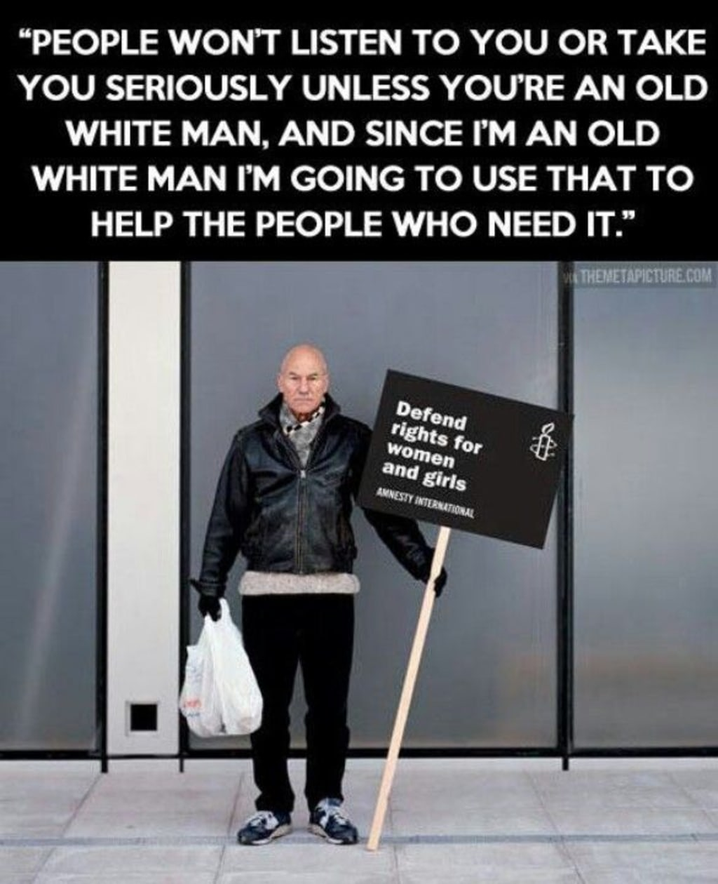 Sir Patrick Stewart Going For United States Citizenship?