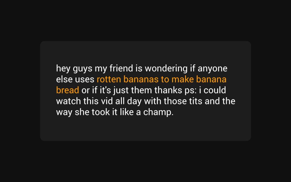 The Best and Most Bizarre PornHub Comments