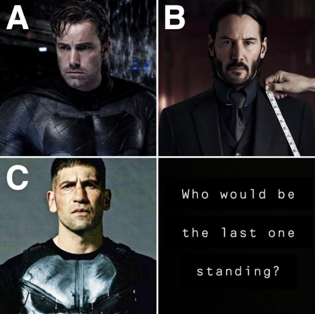 Who Would Win? John Wick, The Punisher, or Batman?