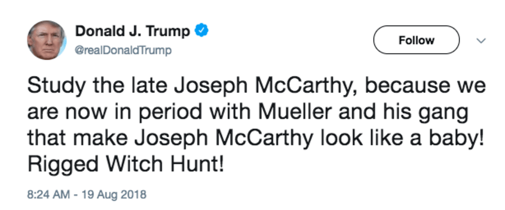 Mr. President, Let's Discuss McCarthyism