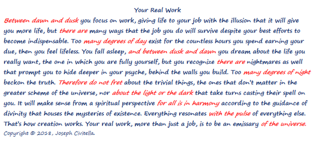Your Real Work